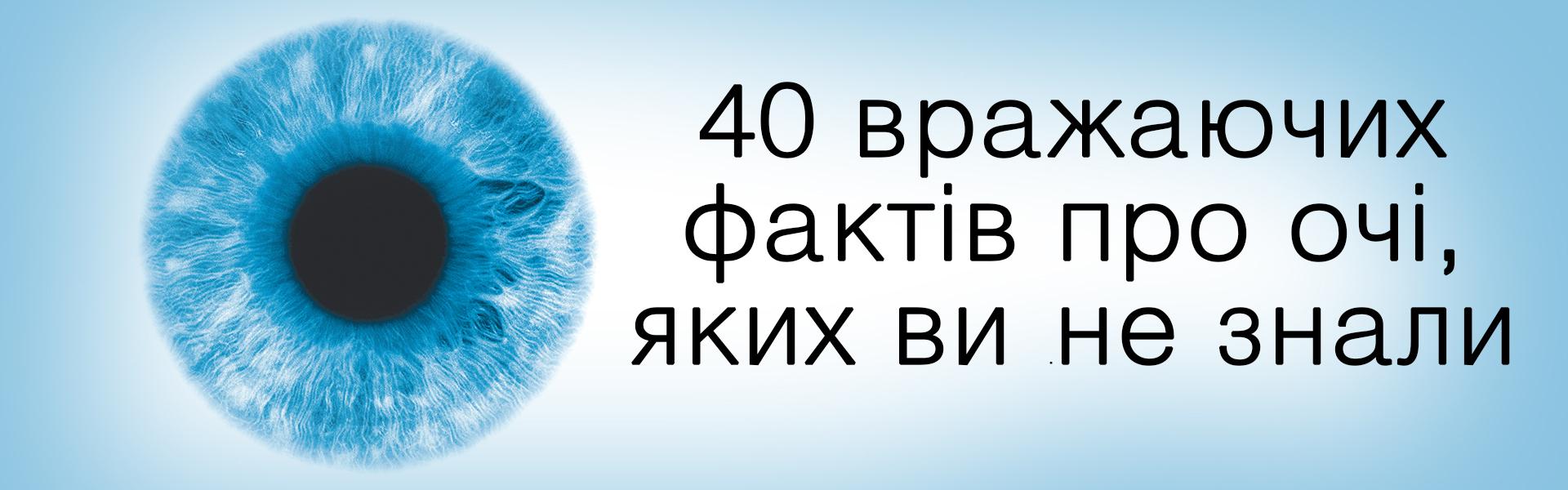 40 фактів про очі